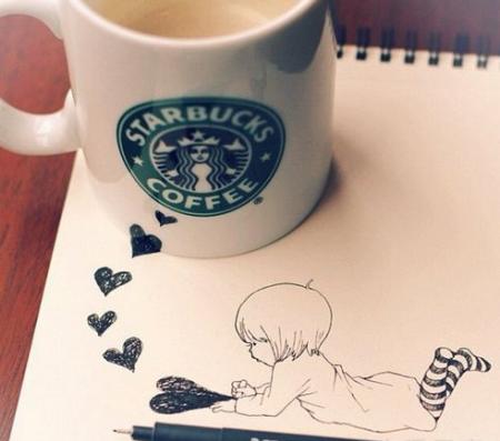 创意手绘:咖啡的奇幻世界 - 酷乐亚洲
